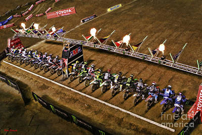 Photograph - Monster Energy Ama Supercross  450sx Main by Blake Richards