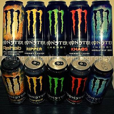 Drink Wall Art - Photograph - Monster Energy by Annija Valontine