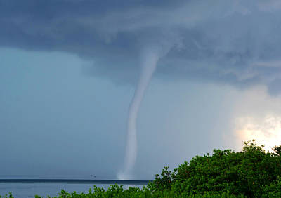 Waterspout Photograph - Monster In The Bay by David Lee Thompson