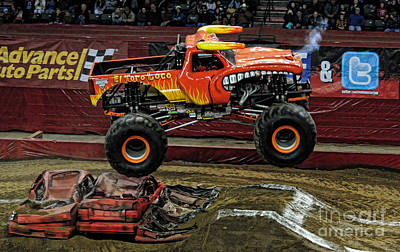 Monster Truck Photograph - Monster Truck - El Toro Loco by Paul Ward