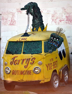 Drag Racing Mixed Media - Monster Van by Gustave Kurz