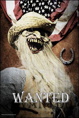 Fright Photograph - Monster Wanted Dead Of Alive by LeeAnn McLaneGoetz McLaneGoetzStudioLLCcom