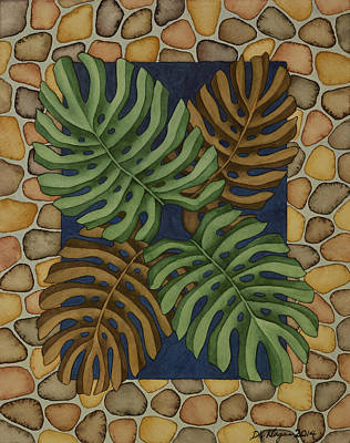 Painting - Monstera Garden by DK Nagano