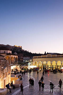 Monastiraki Photograph - Monstiraki Square by Gabriela Insuratelu