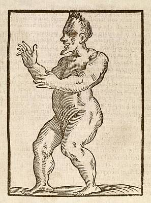 Monstrous Human Figure Art Print by Middle Temple Library