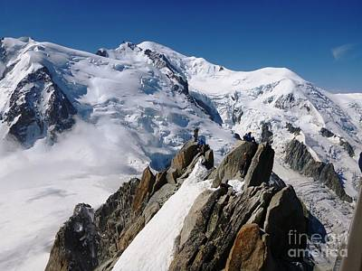 Photograph - Mont Blanc And The Alpinists by Cristina Stefan