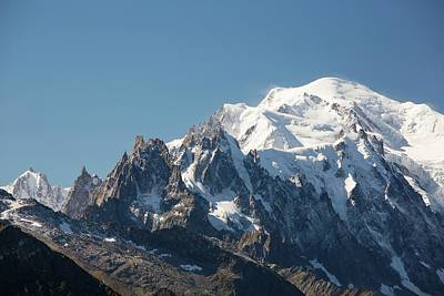 Serrated Photograph - Mont Blanc by Ashley Cooper