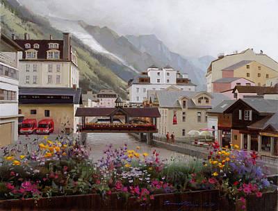 Chamonix Painting - Mont-blanc Chamonix by Ramil Gappasov