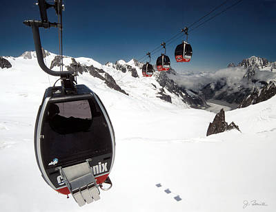 Photograph - Mont Blanc Gondolas by Joe Bonita