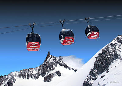 Photograph - Mont Blanc Gondolas No. 2 by Joe Bonita