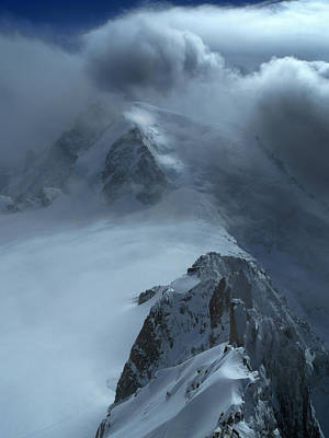Photograph - Mont Blanc Storm by Frank Wilson