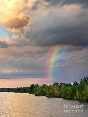 Photograph - Mont Saint Hilaire Quebec Canada Rainbow by Laurent Lucuix