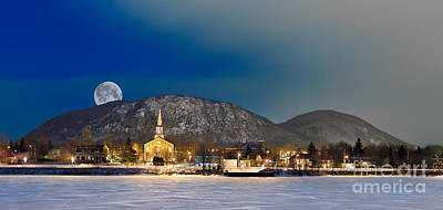 Photograph - Mont Saint Hilaire Quebec Winter Panorama by Laurent Lucuix