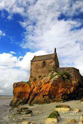 Brittany Photograph - Mont Saint Michel Abbey Fragment by Elena Elisseeva