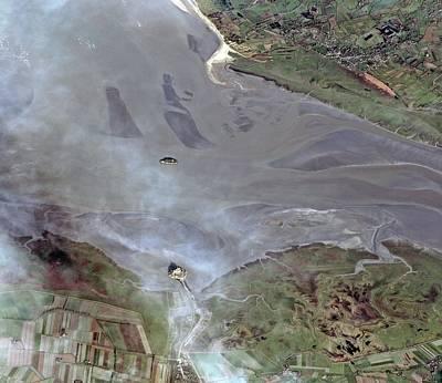 Pleiades Photograph - Mont Saint-michel Bay by European Space Agency/cnes 2012/astrium Services/spot Image