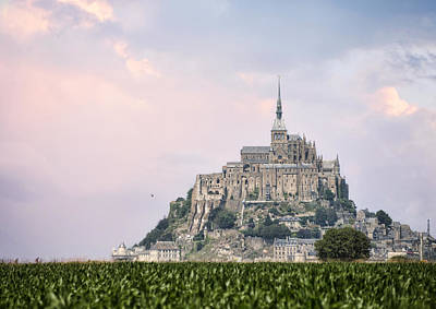 Photograph - Mont Saint-michel Castle by Gouzel -