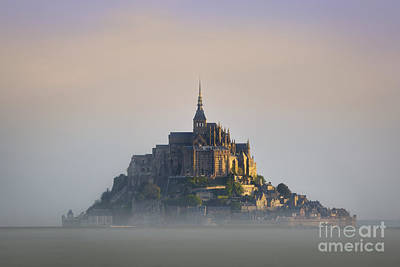 State Love Nancy Ingersoll Rights Managed Images - Mont Saint Michel Dawn Royalty-Free Image by Brian Jannsen