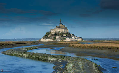 Photograph - Mont Saint-michel Digue by Rob Heath
