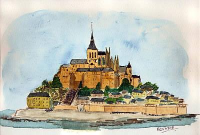 Mont Saint-michel Art Print by Keshava Shukla