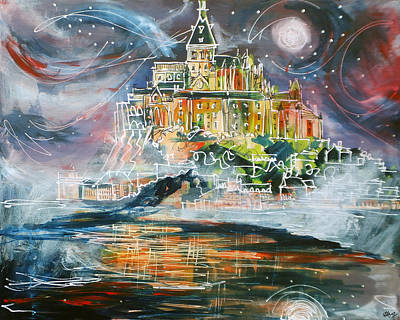 Mont Saint Michel Original by Laura Hol Art