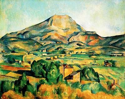Victoire Painting - Mont Sainte-victoire Seen From Bellevue by Paul Cezanne