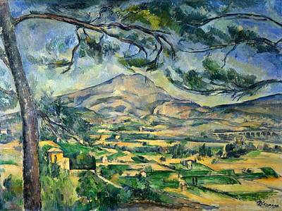 Victoire Painting - Mont Sainte-victoire With Large Pine by Paul Cezanne