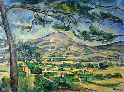 Mont Sainte-victoire With Large Pine Art Print by Paul Cezanne