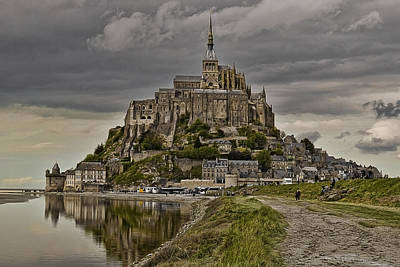 Photograph - Mont St Michel At Low Tide D0321 by Wes and Dotty Weber