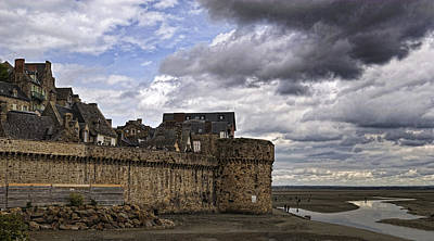 Photograph - Mont St Michel Fortress D0387 by Wes and Dotty Weber