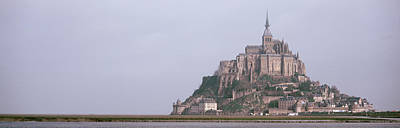 Grey Clouds Photograph - Mont St Michel Normandy France by Panoramic Images