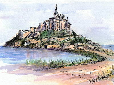 Painting - Mont St. Michel by Suzanne Krueger