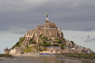 Photograph - Mont St Michel  W0362 B by Wes and Dotty Weber