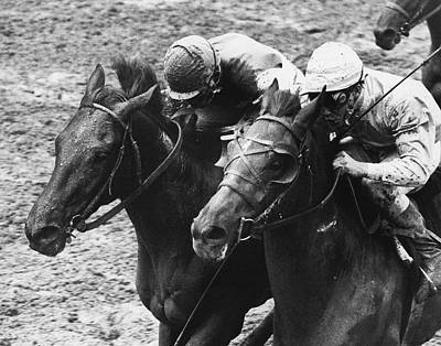 Montage Horse Racing Vintage Art Print by Retro Images Archive