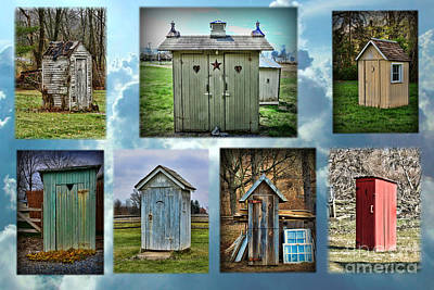 Montage Of Outhouses Art Print by Paul Ward