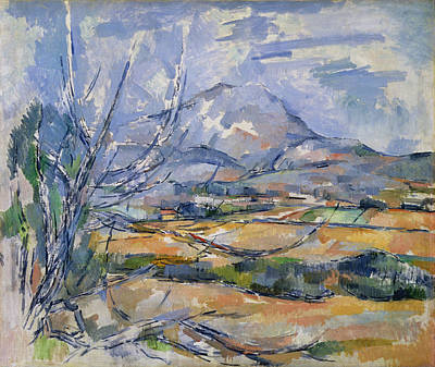Post-impressionist Photograph - Montagne Sainte-victoire, 1890-95 Oil On Canvas by Paul Cezanne