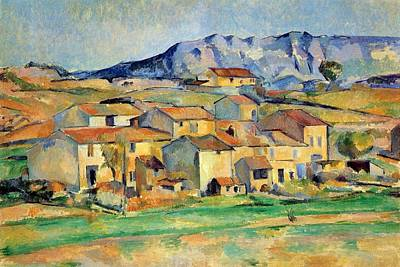 Victoire Painting - Montaigne Sainte-victoire Seen From The Vicinity Of Gardanne by Paul Cezanne