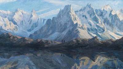 Montain Mirror Art Print by Marco Busoni