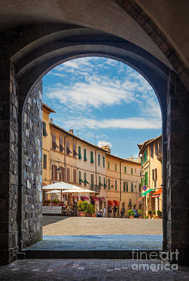 Portal Photograph - Montalcino Loggia by Inge Johnsson