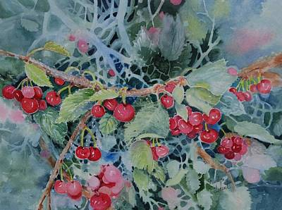 Painting - Montana Cherries by Marilyn  Clement