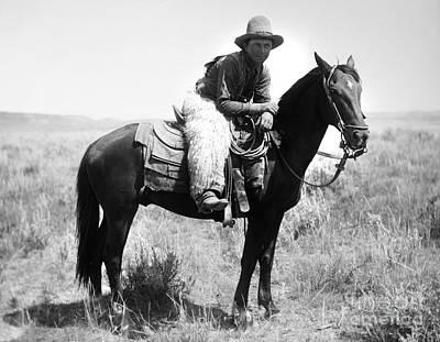 Montana Cowboy 1904 Art Print by Granger