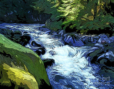 Water Filter Painting - Montana Creek by Dorinda K Skains