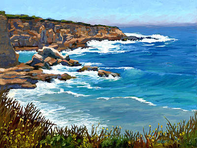 Painting - Montana Del Oro Cliff by Alice Leggett