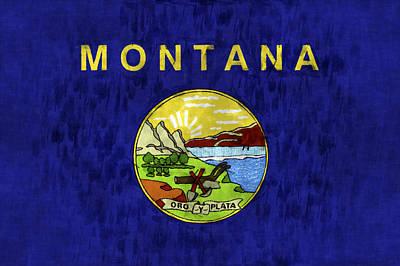 Montana Flag Print by World Art Prints And Designs