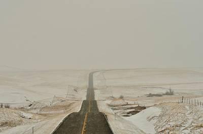Montana Highway 3 Art Print