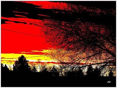 Montana January Sunset Art Print by Aliceann Carlton