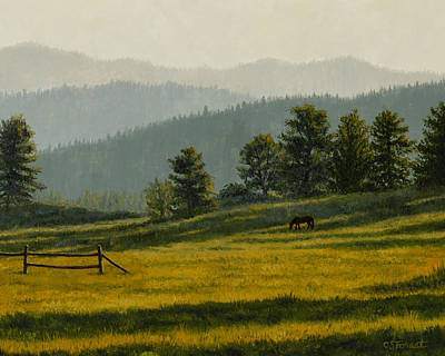 Meadow Painting - Montana Morning by Crista Forest