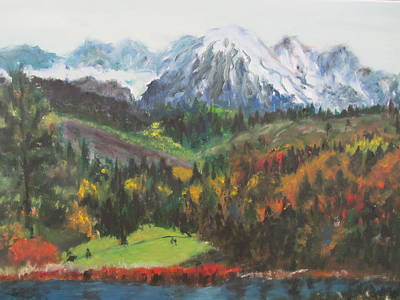 Montana Mountains In The Fall Art Print