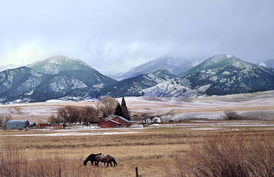 Montana Ranch - 1 Art Print by Kae Cheatham