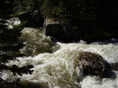 Photograph - Montana River Rapids by Yvette Pichette