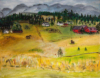 Painting - View From Leesa's House by Lucille  Valentino